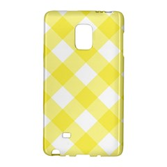 Plaid Chevron Yellow White Wave Galaxy Note Edge by Mariart