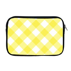 Plaid Chevron Yellow White Wave Apple Macbook Pro 17  Zipper Case by Mariart