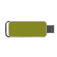 Royal Green Vintage Seamless Flower Floral Portable Usb Flash (two Sides) by Mariart