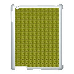 Royal Green Vintage Seamless Flower Floral Apple Ipad 3/4 Case (white) by Mariart