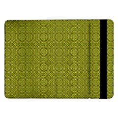 Royal Green Vintage Seamless Flower Floral Samsung Galaxy Tab Pro 12 2  Flip Case by Mariart