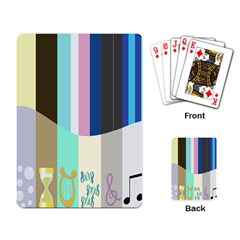 Rainbow Color Line Vertical Rose Bubble Note Carrot Playing Card by Mariart