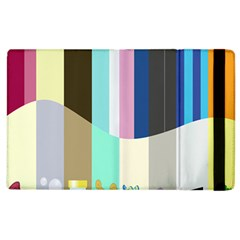 Rainbow Color Line Vertical Rose Bubble Note Carrot Apple Ipad 2 Flip Case by Mariart