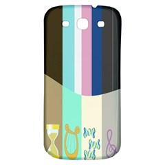 Rainbow Color Line Vertical Rose Bubble Note Carrot Samsung Galaxy S3 S Iii Classic Hardshell Back Case by Mariart