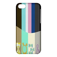 Rainbow Color Line Vertical Rose Bubble Note Carrot Apple Iphone 5c Hardshell Case by Mariart