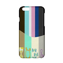 Rainbow Color Line Vertical Rose Bubble Note Carrot Apple Iphone 6/6s Hardshell Case by Mariart