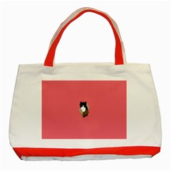 Minimalism Cat Pink Animals Classic Tote Bag (red) by Mariart