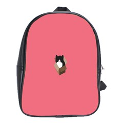 Minimalism Cat Pink Animals School Bags(large)