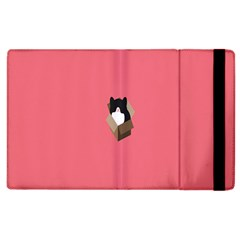 Minimalism Cat Pink Animals Apple Ipad 2 Flip Case by Mariart