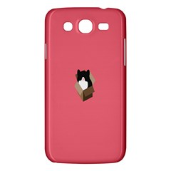 Minimalism Cat Pink Animals Samsung Galaxy Mega 5 8 I9152 Hardshell Case  by Mariart