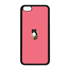 Minimalism Cat Pink Animals Apple Iphone 5c Seamless Case (black) by Mariart