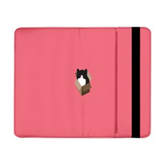 Minimalism Cat Pink Animals Samsung Galaxy Tab Pro 8 4  Flip Case by Mariart
