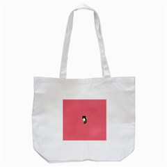 Minimalism Cat Pink Animals Tote Bag (white) by Mariart