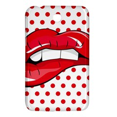 Sexy Lips Red Polka Dot Samsung Galaxy Tab 3 (7 ) P3200 Hardshell Case  by Mariart