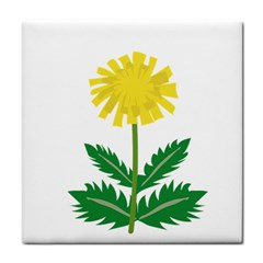 Sunflower Floral Flower Yellow Green Tile Coasters