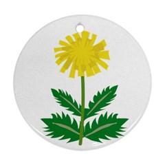 Sunflower Floral Flower Yellow Green Ornament (round) by Mariart