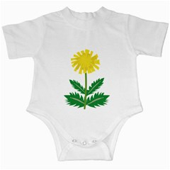 Sunflower Floral Flower Yellow Green Infant Creepers by Mariart