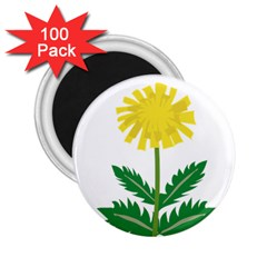 Sunflower Floral Flower Yellow Green 2 25  Magnets (100 Pack)  by Mariart