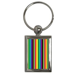 Multi Colored Colorful Bright Stripes Wallpaper Pattern Background Key Chains (rectangle)