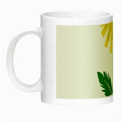 Sunflower Floral Flower Yellow Green Night Luminous Mugs by Mariart