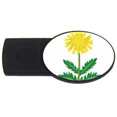 Sunflower Floral Flower Yellow Green Usb Flash Drive Oval (4 Gb) by Mariart