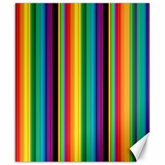 Multi Colored Colorful Bright Stripes Wallpaper Pattern Background Canvas 20  X 24   by Nexatart