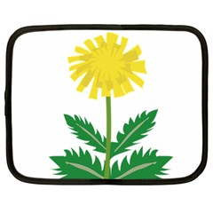 Sunflower Floral Flower Yellow Green Netbook Case (large) by Mariart