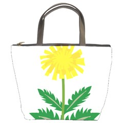 Sunflower Floral Flower Yellow Green Bucket Bags by Mariart