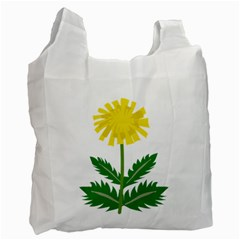 Sunflower Floral Flower Yellow Green Recycle Bag (one Side) by Mariart