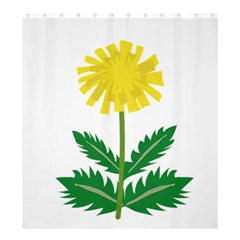 Sunflower Floral Flower Yellow Green Shower Curtain 66  X 72  (large)  by Mariart