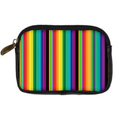 Multi Colored Colorful Bright Stripes Wallpaper Pattern Background Digital Camera Cases by Nexatart