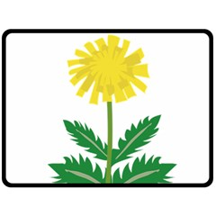 Sunflower Floral Flower Yellow Green Fleece Blanket (large)  by Mariart