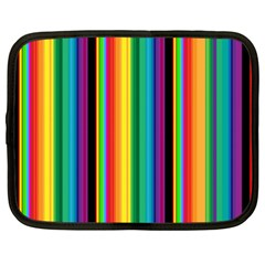 Multi Colored Colorful Bright Stripes Wallpaper Pattern Background Netbook Case (xxl)  by Nexatart