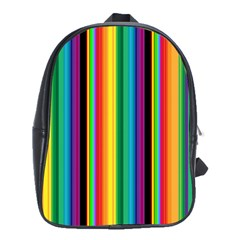 Multi Colored Colorful Bright Stripes Wallpaper Pattern Background School Bags(large)  by Nexatart