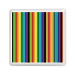 Multi Colored Colorful Bright Stripes Wallpaper Pattern Background Memory Card Reader (Square)  Front