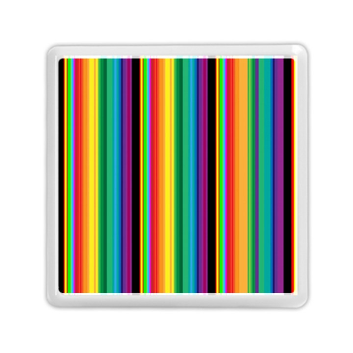 Multi Colored Colorful Bright Stripes Wallpaper Pattern Background Memory Card Reader (Square)