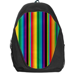 Multi Colored Colorful Bright Stripes Wallpaper Pattern Background Backpack Bag by Nexatart