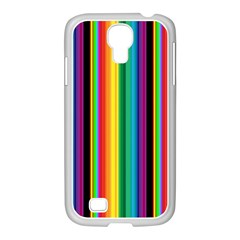 Multi Colored Colorful Bright Stripes Wallpaper Pattern Background Samsung Galaxy S4 I9500/ I9505 Case (white)