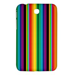Multi Colored Colorful Bright Stripes Wallpaper Pattern Background Samsung Galaxy Tab 3 (7 ) P3200 Hardshell Case  by Nexatart
