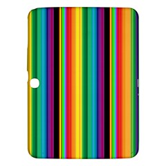 Multi Colored Colorful Bright Stripes Wallpaper Pattern Background Samsung Galaxy Tab 3 (10 1 ) P5200 Hardshell Case  by Nexatart