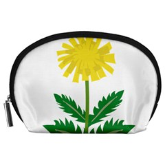 Sunflower Floral Flower Yellow Green Accessory Pouches (large)  by Mariart