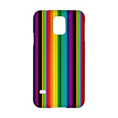 Multi Colored Colorful Bright Stripes Wallpaper Pattern Background Samsung Galaxy S5 Hardshell Case