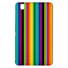 Multi Colored Colorful Bright Stripes Wallpaper Pattern Background Samsung Galaxy Tab Pro 8 4 Hardshell Case by Nexatart