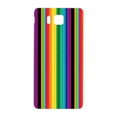 Multi Colored Colorful Bright Stripes Wallpaper Pattern Background Samsung Galaxy Alpha Hardshell Back Case