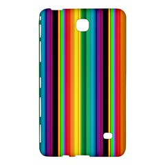 Multi Colored Colorful Bright Stripes Wallpaper Pattern Background Samsung Galaxy Tab 4 (8 ) Hardshell Case  by Nexatart