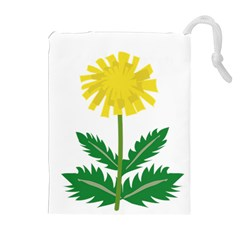 Sunflower Floral Flower Yellow Green Drawstring Pouches (extra Large) by Mariart