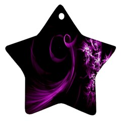 Purple Flower Floral Ornament (star) by Mariart
