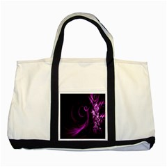 Purple Flower Floral Two Tone Tote Bag by Mariart