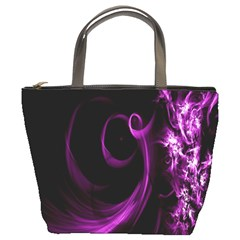 Purple Flower Floral Bucket Bags by Mariart