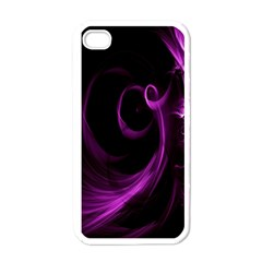 Purple Flower Floral Apple Iphone 4 Case (white)